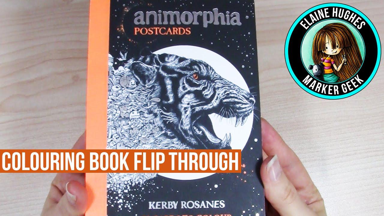 Animorphia Coloring Book Flip Through Postcard Edition