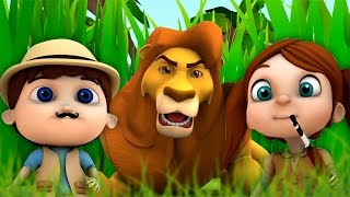 Going On A Lion Hunt | Kindergarten Nursery Rhyme For Toddlers | Cartoons by Super Kids Network
