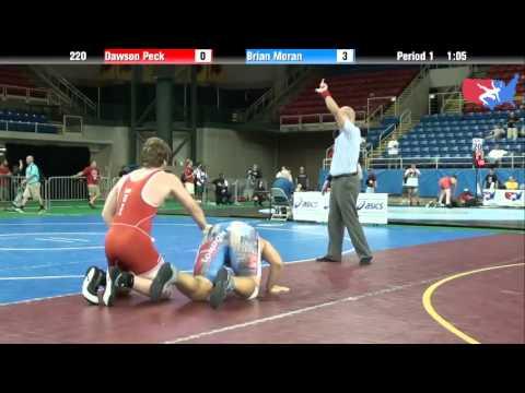 Fargo 2012 220 Round 3: Dawson Peck (Pennsylvania) vs. Brian Moran (Michigan)