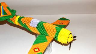 3d Origami Fighter Plane ( I.a.r.80 )