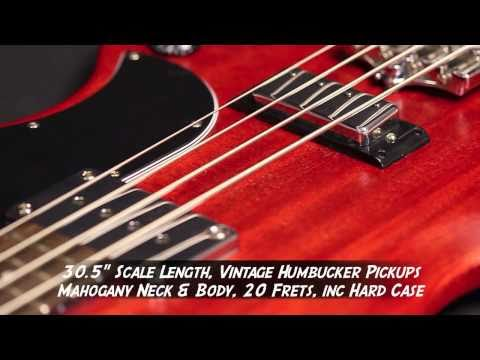 Gibson SG Standard Bass in Worn Cherry Demo @ Nevada Music UK