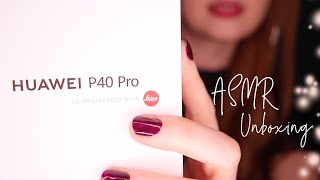 [ASMR] Unboxing Huawei P40 Pro – Whispering, tapping, tracing, tech