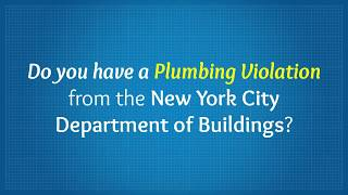 Dob Violations Removal in NYC - John Farr Plumbing