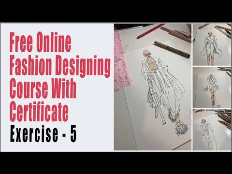 Online Fashion Designing Course Free Fashion Illustration Online Session Draping Fashion Croquis Youtube