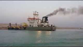 قناة السويس الجديدة :سر الدخان الكثيف بقناة السويس الجديدة !!
