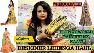 Flipkart Designer Lehenga haul | Lehengas under Rs. 1000 | Jomso lehenga haul | Bridal lehenga