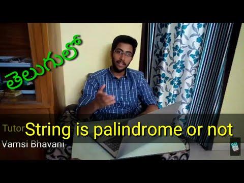 checking-if-a-string-or-word-is-palindrome-or-not-telugu.-c-programming-in-telugu.-vamsi-bhavani