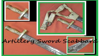A US Civil War rare AMES Artillery Sword Scabbard Model 1839 Belt Frog & What it is worth