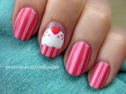 cute cupcake nail art