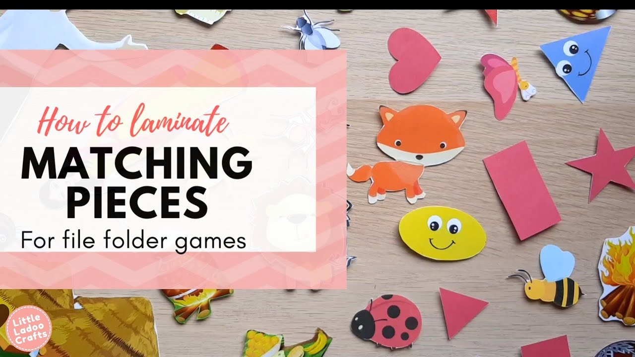 How to laminate matching pieces for file folder games