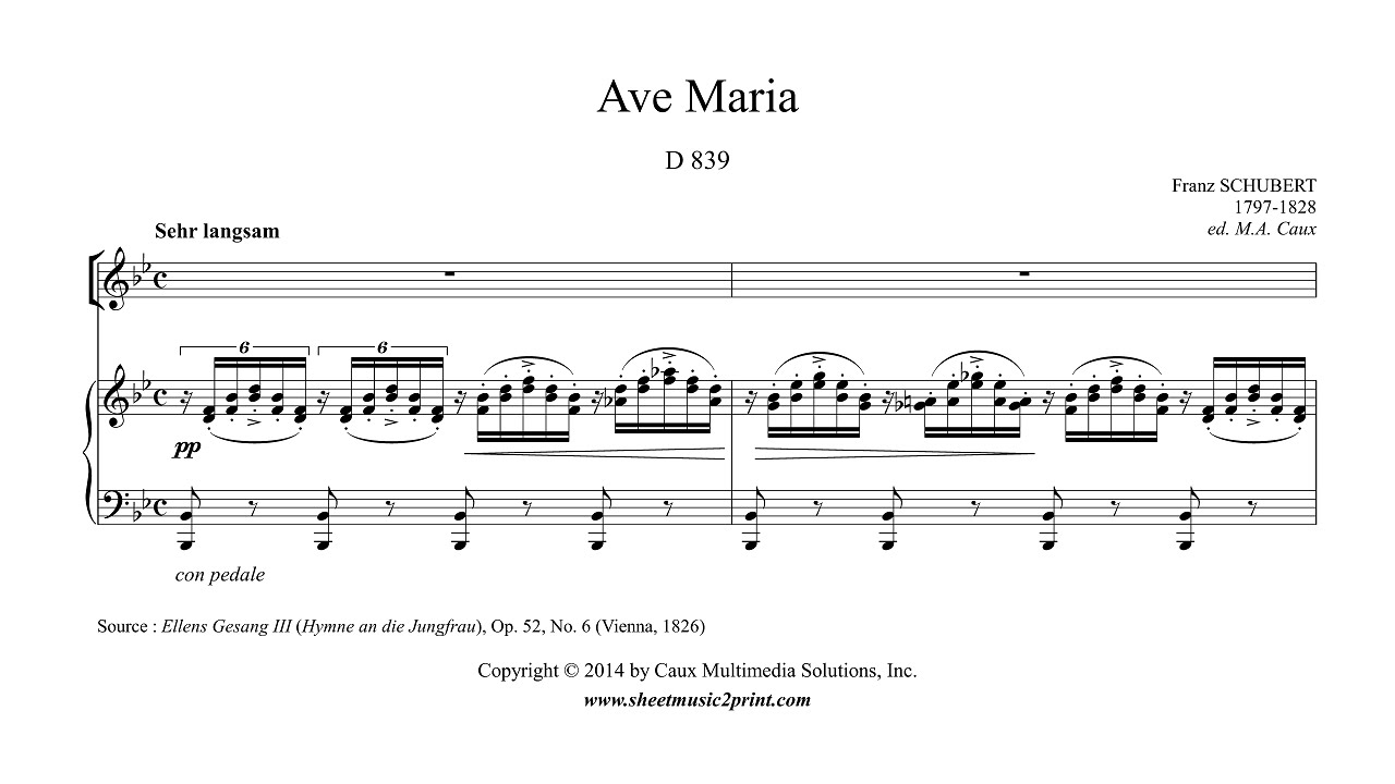 Conhecido Schubert : Ave Maria - A NEWER VERSION IS AVAILABLE! - YouTube TQ46