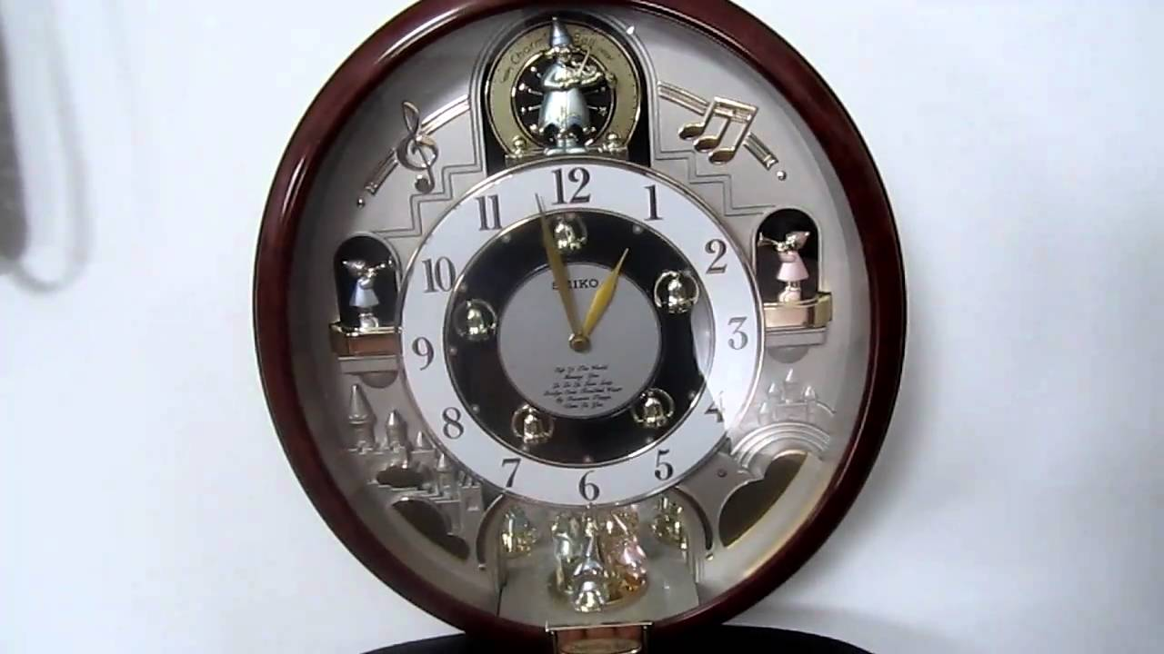 Seiko melodies in motion charming bell wall clock youtube amipublicfo Images
