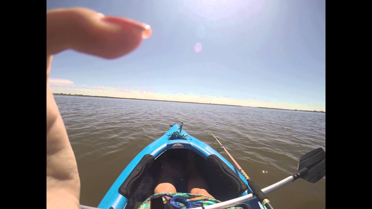 Kayak fishing on the outer banks youtube for Outer banks sound fishing