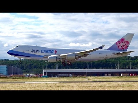 China Airlines Cargo Boeing 747-400F | Landing and taxiing to Cargo Center at Luxembourg Airport