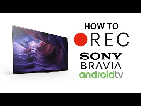 How to record TV using USB on Sony Android TV
