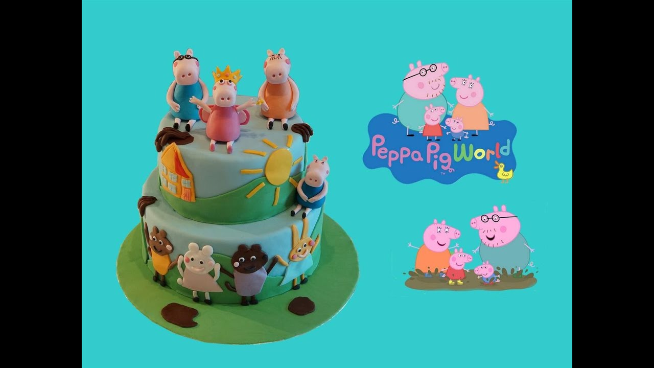 Decoration de gateau peppa pig