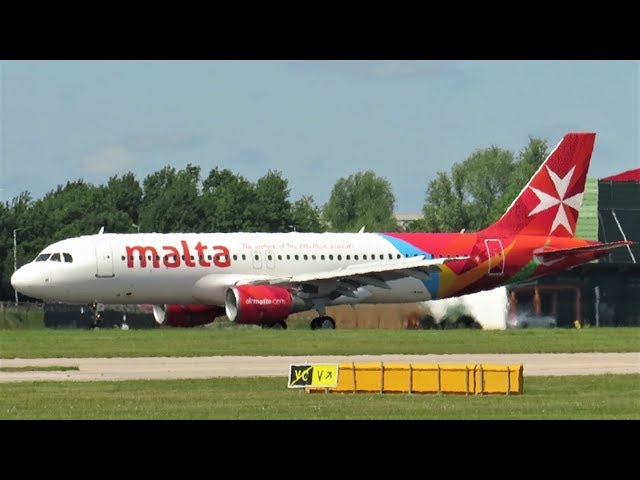 Air Malta Airbus A320 Rescue Flight to Manchester Airport!