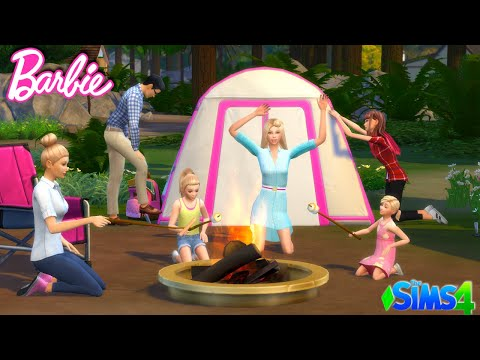 Sims Barbie Family Camping Adventure - Dreamhouse Roleplay Titi Plus