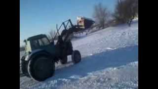 Белогорский трактор чистить дорогу.(, 2014-02-06T17:49:12.000Z)