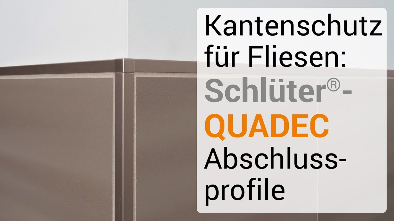 Schluter Quadec Fur Eleganten Kantenschutz Youtube
