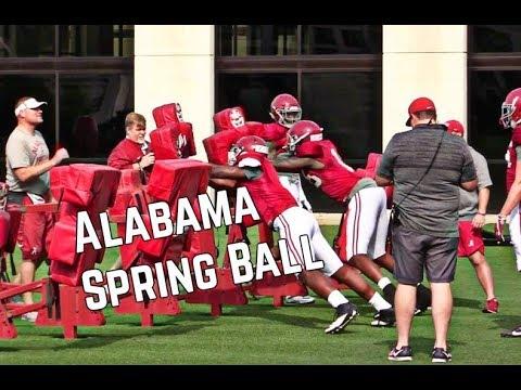 WATCH: Alabama Spring Football Highlights