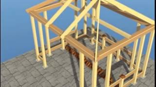 как сделать 4 скатную крышу для беседки