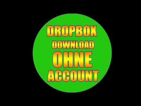 Dropbox - Download ohne Anmeldung / Konto