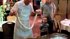 Noodle maker at Mandarin Restaurant, Portland, Oregon