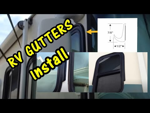 Install Eze Rv Rain Gutters Around Windows Of Motorhome