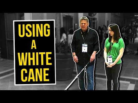 How Blind People Use A White Cane