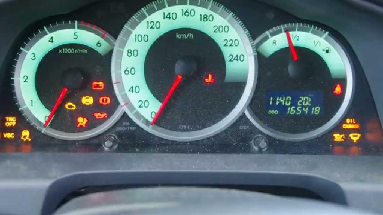 Corolla Verso 2 2 D4d Kasowanie Wskaźnika Oil Change Turning Off Oil Change Indicator Youtube