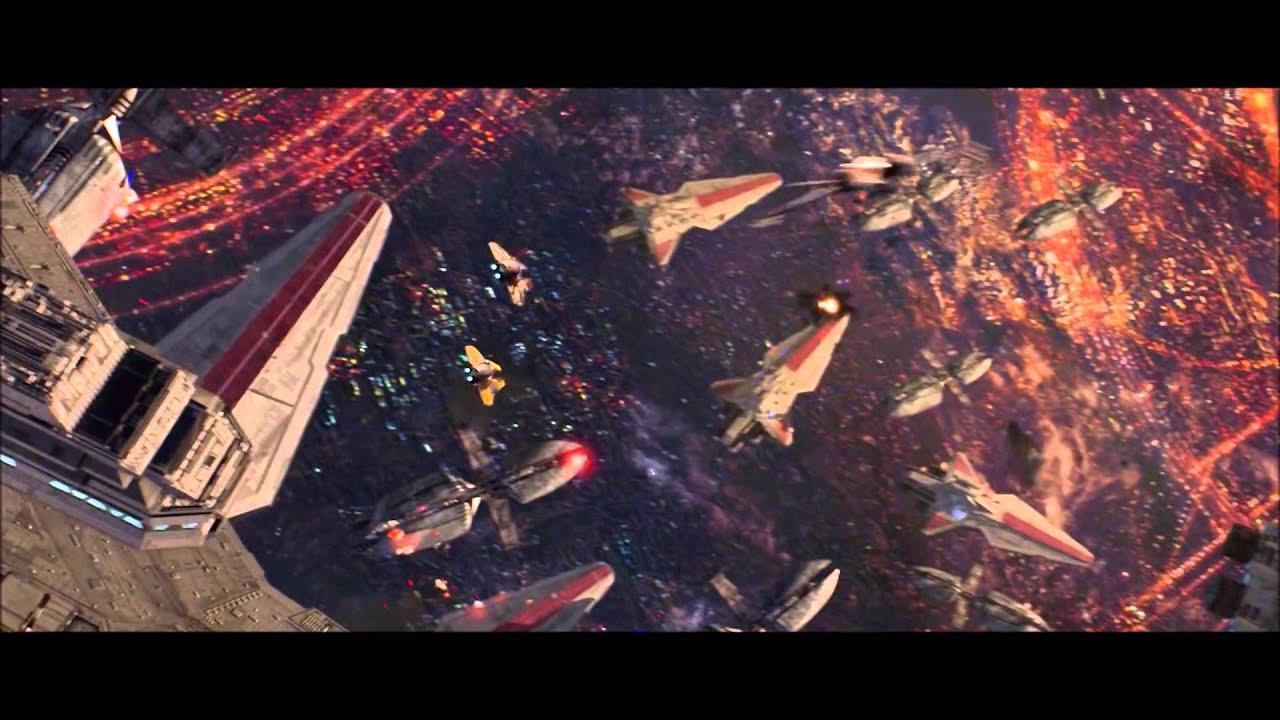 Battle Over Coruscant Starwars Episode Iii Opening Scene Youtube