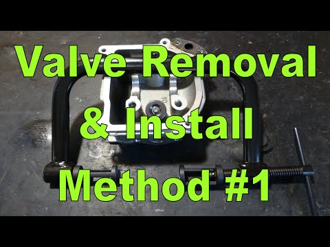 Valve Removal & Installation Method 1 : Valve Spring Compressor