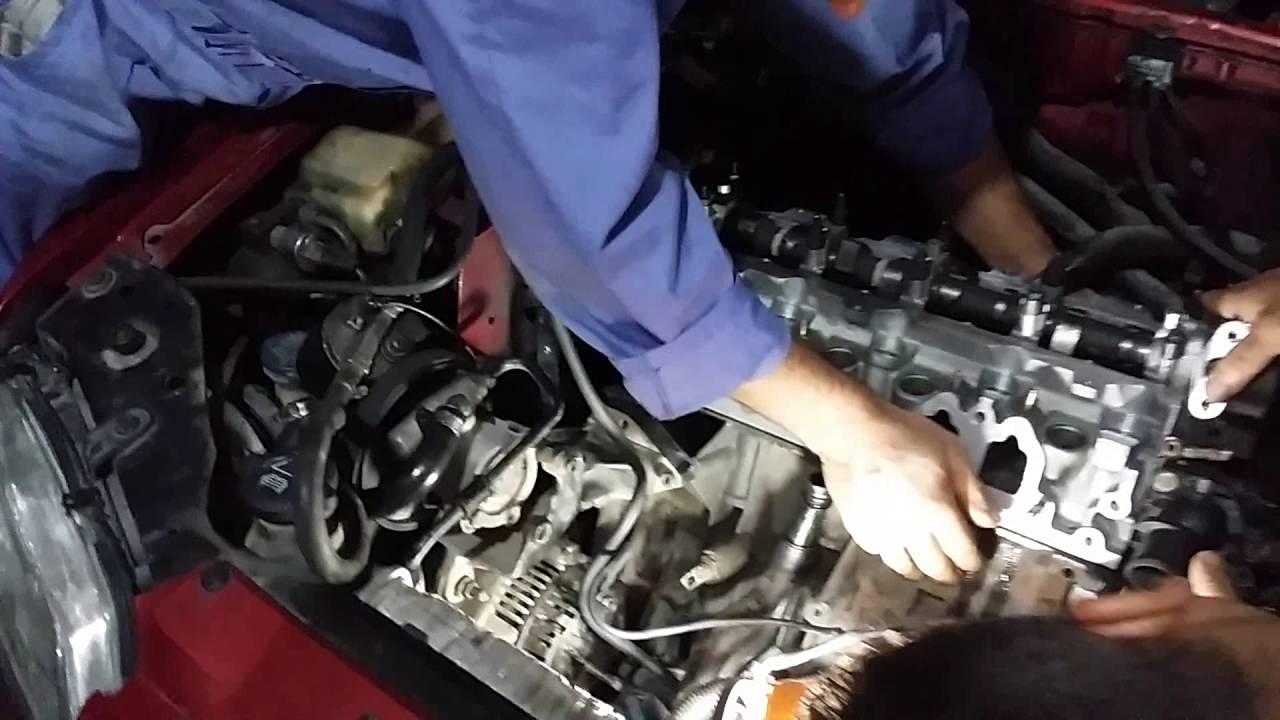 peugeot 306 1.8 automatİc sİlİndİr kapak contasi deĞİŞtİrme - youtube