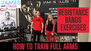 How To Train Full Arms || Resistance Bands Exercises || Exercise Demonstrations || Biceps || Triceps