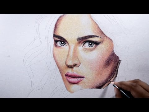 How to draw skin -- Basic tips with colored pencils.