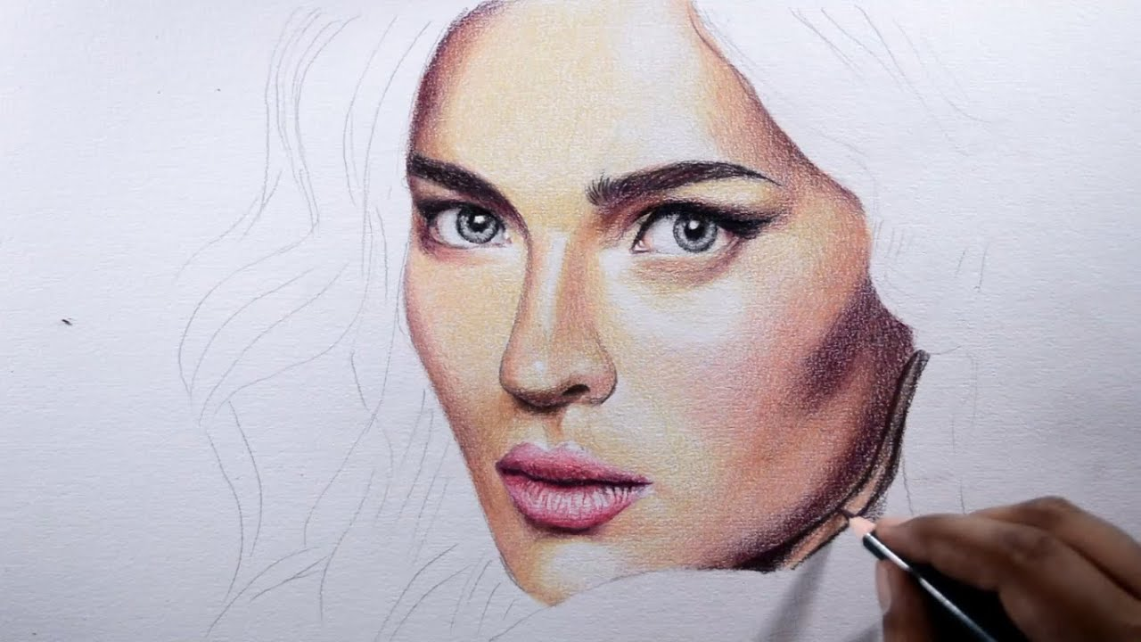 How to draw skin basic tips with colored pencils