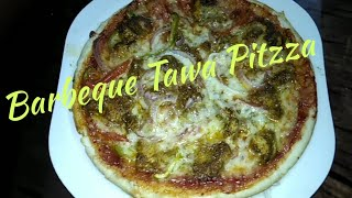 Barbeque  Tawa  Pitzza. Recipe