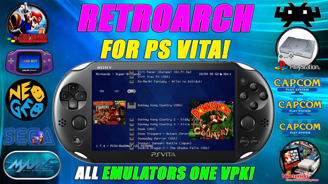 RetroArch For the PS VITA! ALL EMULATORS One VPK! Installation Guide & Tips!