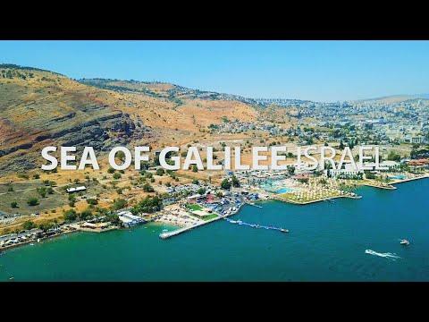 הכינרת. טבריה   Israel. Sea Of Galilee   Tiberias From Drone