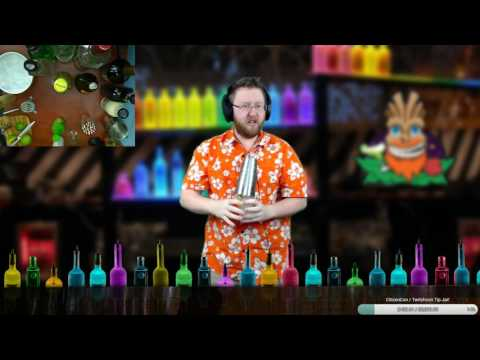 #Cocktail clases on Twitch at The Bearded Tiki