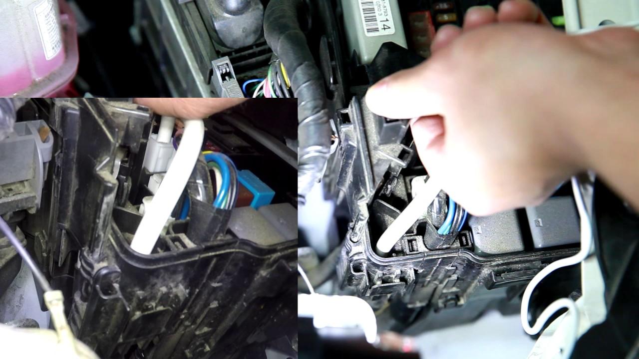 2010 2015 toyota prius fuse box case plastic cap remove and install [ 1280 x 720 Pixel ]