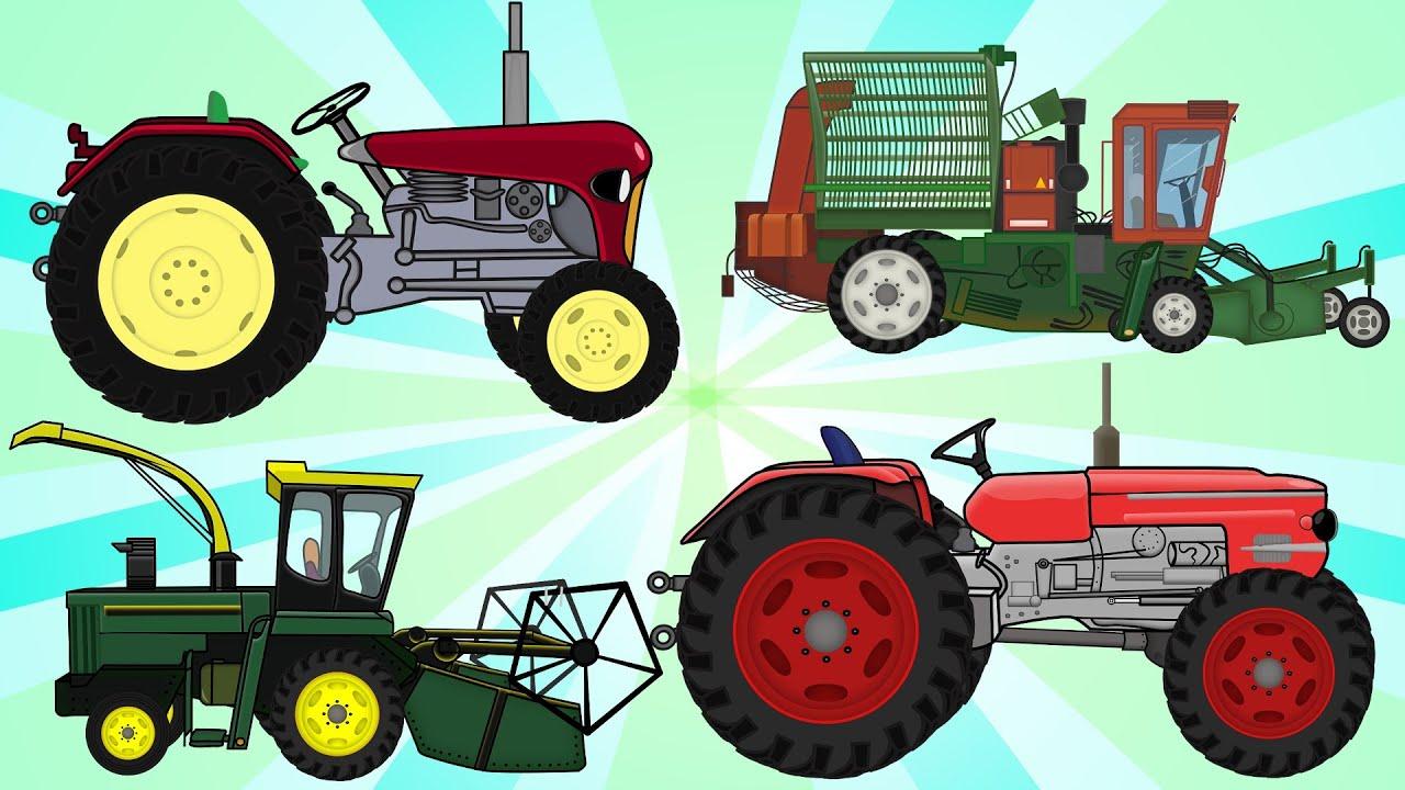 Рисунки тракторы и комбайны камазы