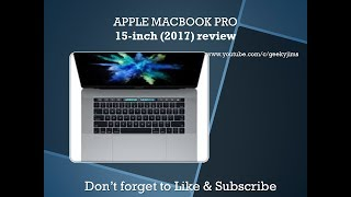 Apple MacBook Pro 15-inch (2017) review