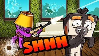 Minecraft | Quiet Hide and Seek Challenge!! (SHH!!! He Can Only Hear!)