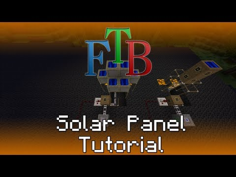 Solar Panel / Solar Kraftwerk - Feed the Beast Tutorial [Deutsch/HD]