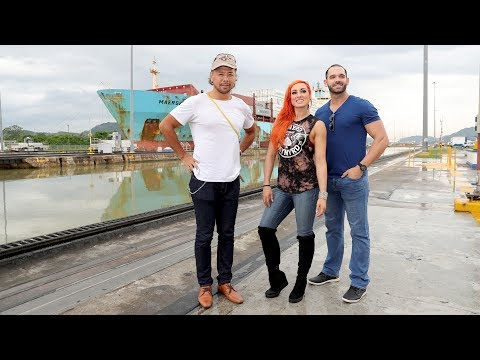 Superstars take in Panama's wondrous waterway