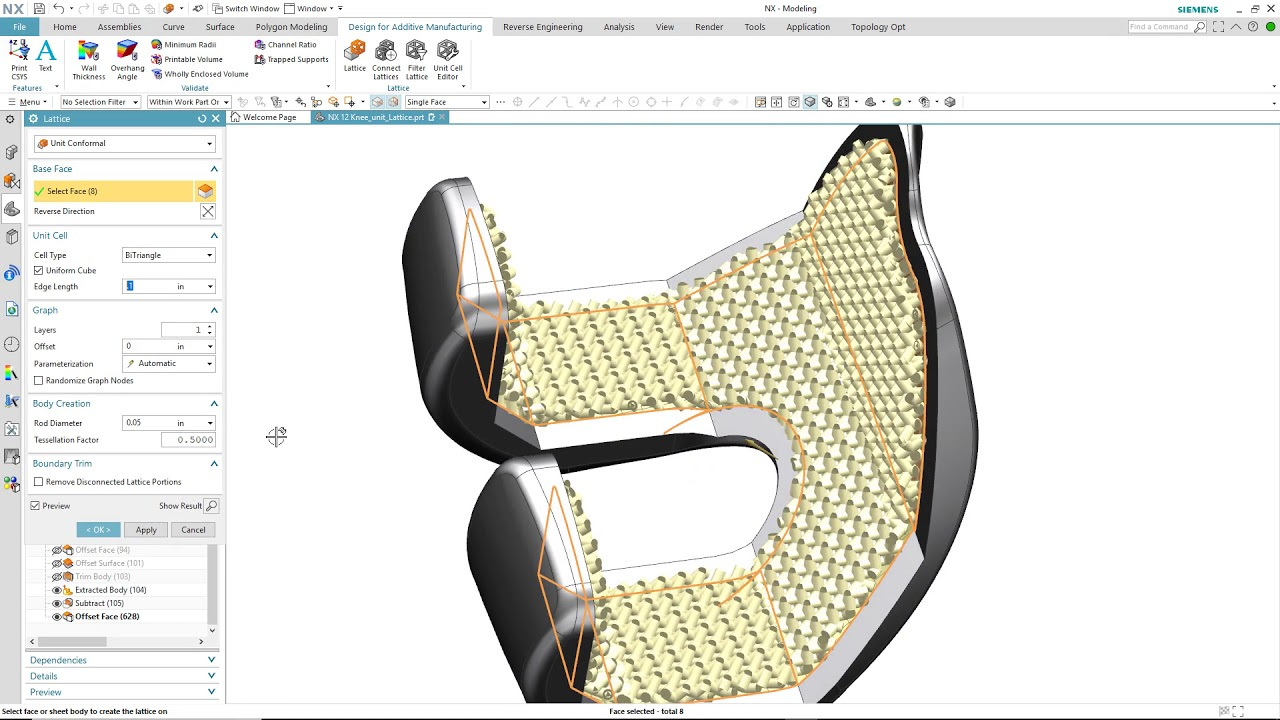 NX Lattice Previewing