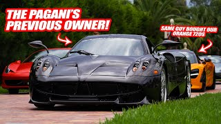 RANDY MEETS THE *PREVIOUS OWNER* OF HIS PAGANI HUAYRA! (they also bought his  McLaren 720s)