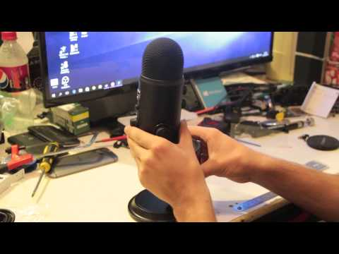 Blue Yeti Blackout USB Microphone Unboxing And Test